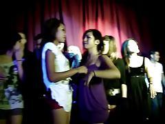 Amateur lesbian kiss contest