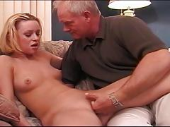 Blonde Babe Enjoying Daddy's Cock