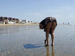 no panties on the beach