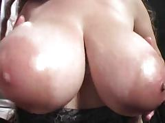 Denise Davies with Her Tits Oiled and Fondled