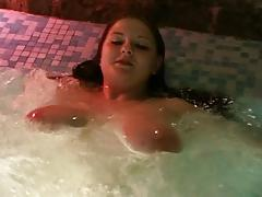 Young busty BBW in pool
