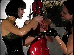 Latex Tied Up and Beaten With Crop