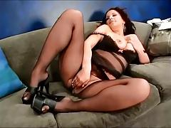 Dark hair in Pantyhose