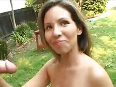 Milf jerks off man out doors -  724adult com
