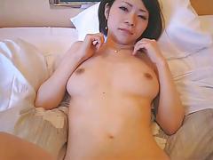 Japanese cute girl blow job and fuck