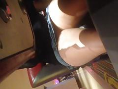 Up skirt under poker table