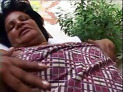 54yr old Black Granny Vanessa Loves to Suck and Fuck BBC