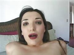 British slut Sabrina gapes on the bed