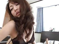 Uncensored Sexy Japanese nymph in lingerie