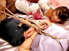 Chinese rope bondage hogtied 2