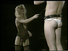 Vintage bondage she teases cock