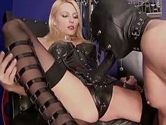 Mistress fucks her slave