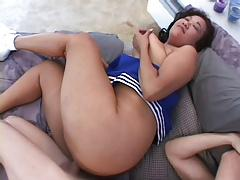 Chunky Cheerleader Ginger Shows What A Chubby Can Do