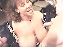 thick milf gets a jizz shower