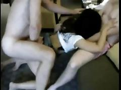 Japanese Slut Hotwife in Hotel Room Fucking Two Young Studs