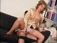 Sweet mom at stockings & gut
