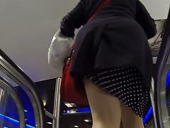 upskirt3 - chubby in nylon