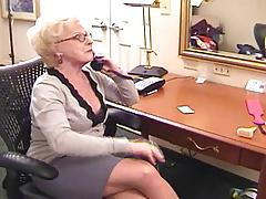 Hot Older Cougar Plays With Two Hotties
