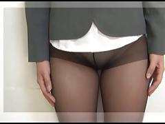pantyhose and a leash