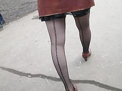 Sexy stockings upskirt