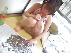 Poor cute japanese girl and her daddy