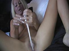 British slut in a panty play scene