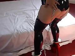 Latex and self bondage