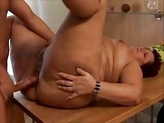 Mature BBW Kitchen Fuck