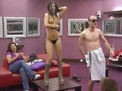 Striptease 3: Jasmine strips totally naked at Big Brother