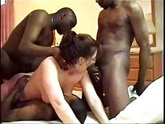 Hot Wife Gets Two Black Dicks