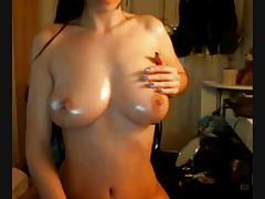 Teen Oil Body Massage Solo on Cam