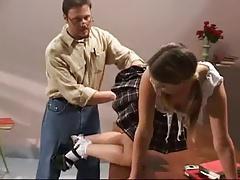 Schoolgirl diziplined