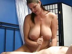 mature a boy to cum with a handjob by WF
