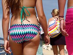 Candid Beach Bikini Ass Butt West Michigan Booty Tall