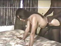 Shy latin wife goes black