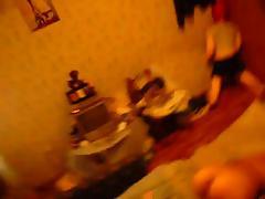 Crazy skinny russian brunette blowjob