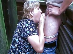 Chubby Old Lady Takes a Dick