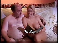 chubby daddy reading and fucking on the couch
