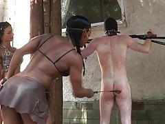 Two Mistresses Punish and Humiliate Slave