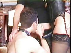 Couple Dominates Bi Sissy MMF