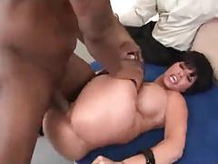sexy cougar in stockings fucked by bbc