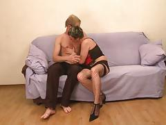 Cougar Makes it with Younger Guy