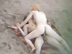Nude Beach - Blond Skinny Ride & Blowjob
