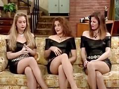 Christina Applegate, Andrea Elson & Sara Melson in Leather