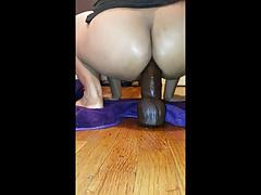 Riding Huge Bam Dildo In The Asshole!!!