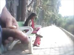 Indain boy flashes in park