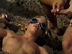 Beach bukkake pt.2