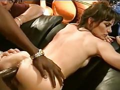 MILF's First Time With BBC While Husband Watches
