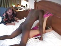 Useless cuckold watch 2 bull fuck wife and lick her clean