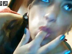 Amazing cumshot in webcam